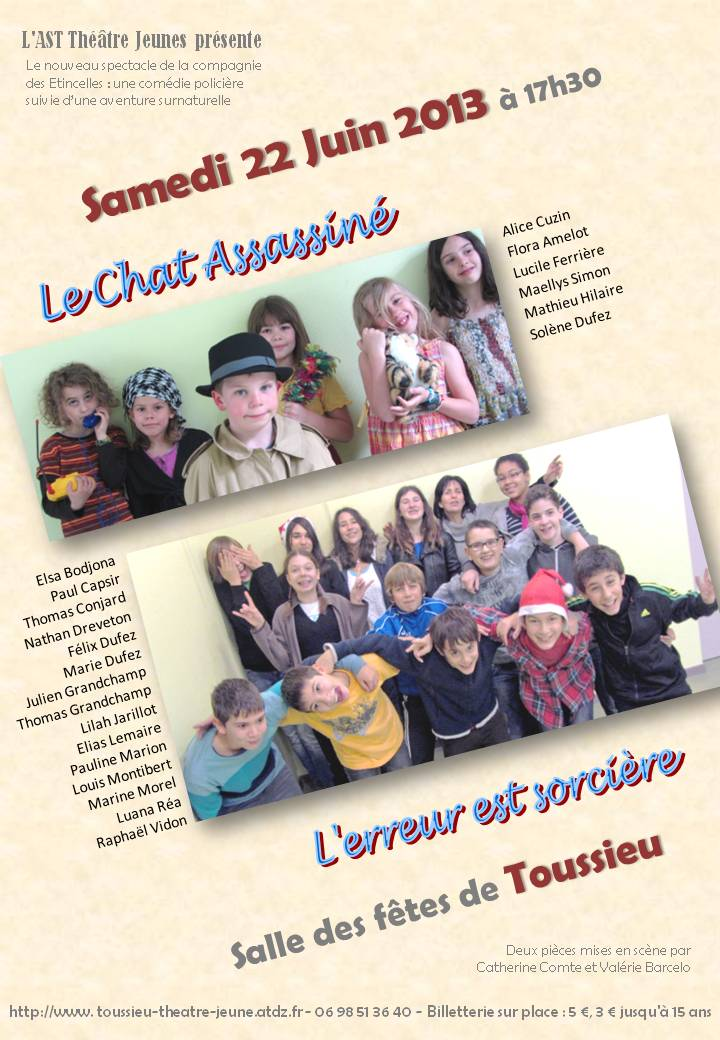 Affiche spectacle Juin 2013